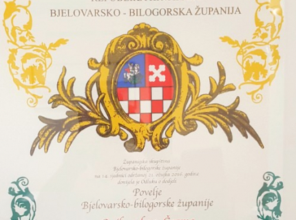 Oniks Ltd. winner of the muniment of the Bjelovar- bilogora County
